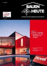 Fachjournal für zeitgenössisches Bauen