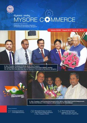 Mysore commerce Magazine GHBW 17 August 2017