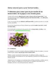 Dieta natural para curar hemorroides