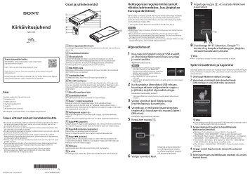 Sony NW-ZX2 - NW-ZX2 Guide de mise en route Estonien