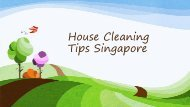Best House Cleaning Tips Singapore - Easy To Do