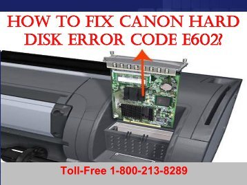 2 How to Fix Canon Hard Disk Error Code E602