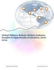 Global Military Robots Market (2016-2024)- Research Nester