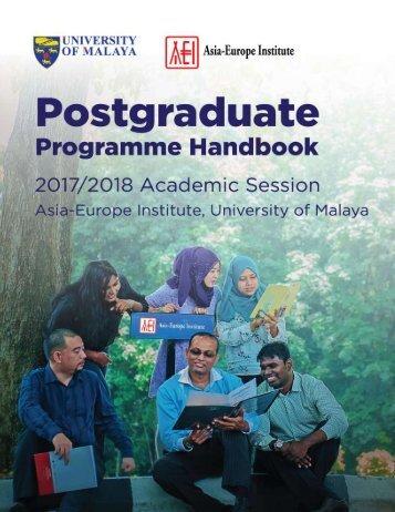AEI Postgraduate Programme Handbook 2017-2018