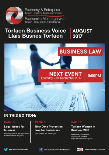 Torfaen Business Voice August 2017 Newsletter