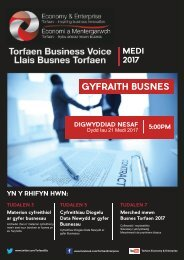 Torfaen Business Voice August 2017 Newsletter (Cymraeg)