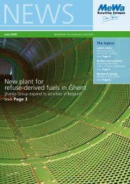 New plant for refuse-derived fuels in Ghent - MeWa Recycling ...