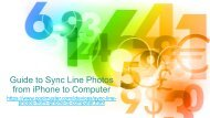 How to Sync Line Photos from iPhone to Computer