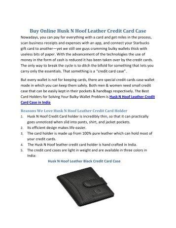 Buy Online Husk N Hoof Leather Credit Card Case