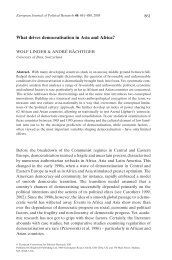 What drives democratisation in Asia and Africa? - Wolf Linder