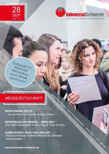 Jobmesse Zeitschrift Schwerin - 28.09.2017