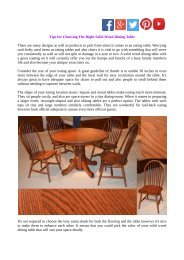 Tips for Choosing The Right Solid Wood Dining Table