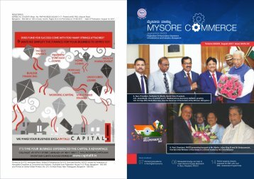 Mysore commerce Magazine GHBW August 2017
