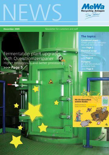 December 09 - MeWa Recycling Maschinen und Anlagenbau GmbH