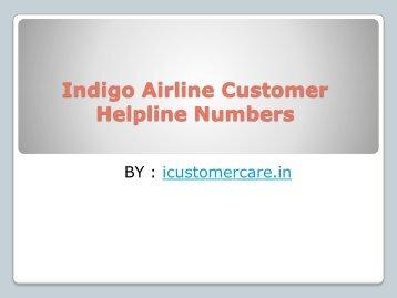 Indigo Airline Customer Helpline Numbers