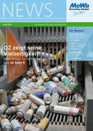 News - MeWa Recycling Maschinen und Anlagenbau GmbH