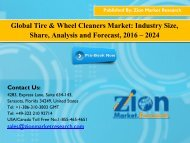 Tire & Wheel Cleaners Market