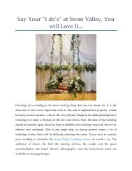 """Say Your """"I do's"""" at Swan Valley, You will Love It..."""