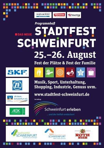 Programmheft Stadtfest Schweinfurt 2017