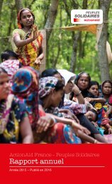 Rapport Annuel 2015 ActionAid France - Peuples Solidaires