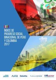 Índice de progreso social binacional de Perú y Colombia 2017