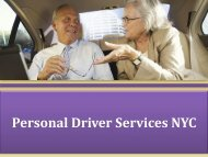 Personal Driver Services NYC