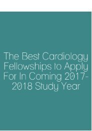 The Best Cardiology Fellowships to Apply for in Coming 2017-2018 Study Year