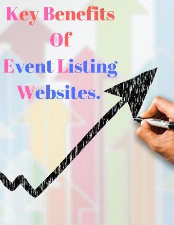 Key BenefitsOf Event Listing Websites.