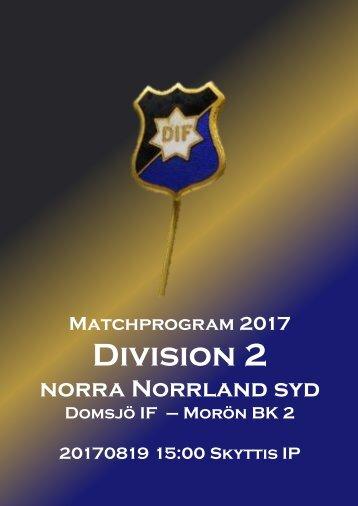 Matchprogram_2017_DIF-Morön