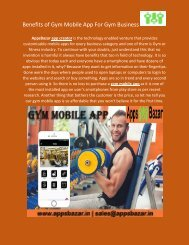 Benefits of Gym Mobile App For Gym Business