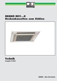 Technik REMKO RKV...K Deckenkassetten zum ... - Reuter GmbH