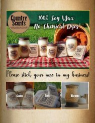 Kellz Country Scents Candles Catalog