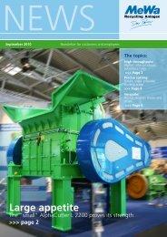 Large appetite - MeWa Recycling Maschinen und Anlagenbau GmbH