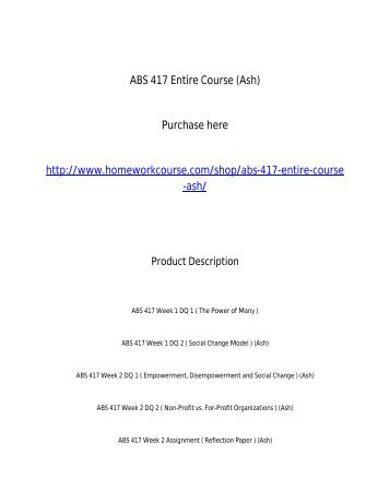 ABS 417 Entire Course _Ash_