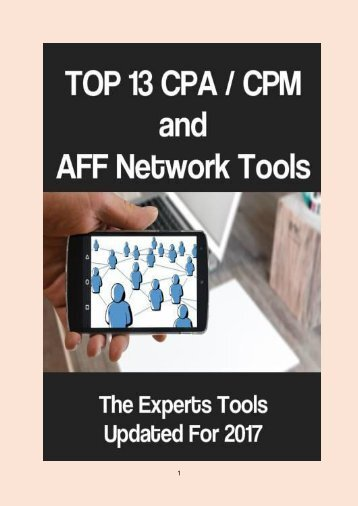 Top 13 CPA/CPM and AFF Networks Tools