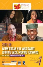 2017 When Sugar Hill Was Sweet: Looking Back, Moving Forward
