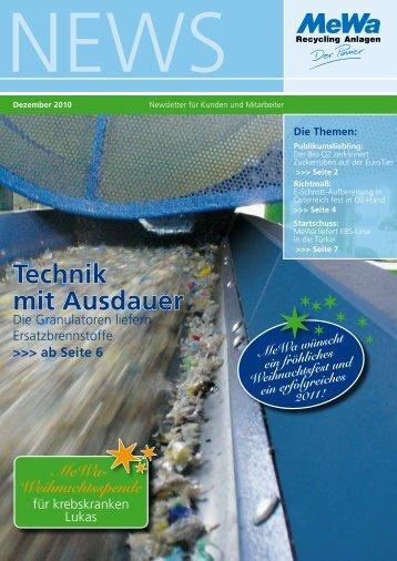 Technik mit Ausdauer - MeWa Recycling Maschinen und ...