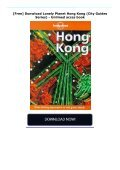 [Free] Donwload Lonely Planet Hong Kong (City Guides Series) -  Unlimed acces book - Page 2