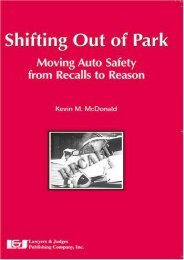 Read PDF Shifting Out of Park: Moving Auto Safety from Recalls to Reason -  Unlimed acces book - By Kevin M McDonald