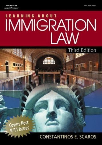 Unlimited Ebook Learning About Immigration Law (West Legal Studies (Paperback)) -  Online - By Constantinos Scaros