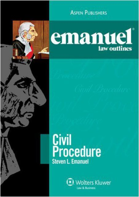 Best PDF Emanuel Law Outlines: Civil Procedure -  For Ipad - By Steven Emanuel
