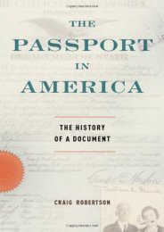 Full Download The Passport in America: The History of a Document -  [FREE] Registrer - By Craig Robertson