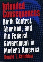 [Free] Donwload Intended Consequences: Birth Control, Abortion and the Federal Government in Modern America -  Populer ebook - By Donald T. Critchlow
