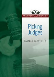 Full Download Picking Judges (Presidential Briefings Series) -  [FREE] Registrer - By Nancy Maveety