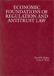 [Free] Donwload Economic Foundations of Regulation and Antitrust Law (American Casebooks) -  For Ipad - By David W. Barnes