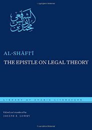 Unlimited Ebook The Epistle on Legal Theory: A Translation of Al-Shafii s Risalah (Library of Arabic Literature) -  Online - By Muhammad ibn Idris al-Shafii