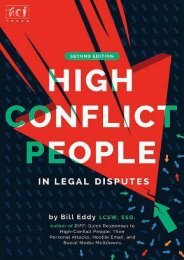 Best PDF High Conflict People in Legal Disputes -  Online - By Bill Eddy