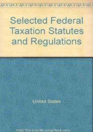 Unlimited Ebook Selected Federal Taxation Statutes and Regulations -  Populer ebook - By United States