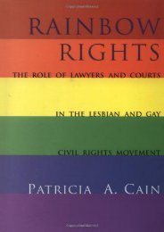 Unlimited Ebook Rainbow Rights: The Legal Controversies (New Perspectives on Law, Culture   Society) -  Populer ebook - By Patricia Cain